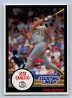 1990  JOSE CANSECO - Kenner Starting Lineup Card - OAKLAND ATHLETICS - (Blue)