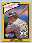 1990  JOSE CANSECO - Kenner Starting Lineup Card - Oakland Athletics - (Yellow)