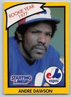 1990  ANDRE DAWSON - Kenner Starting Lineup Card - Montreal Expos - (Yellow)