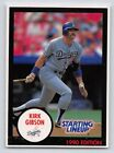 1990  KIRK GIBSON - Kenner Starting Lineup Card - LOS ANGELES DODGERS -( Blue )