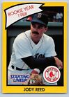 1990  JODY REED - Kenner Starting Lineup Card - Boston Red Sox - (Yellow)