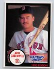 1990  MIKE GREENWELL - Kenner Starting Lineup Card - Boston Red Sox - (BLUE)