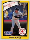 1990  WADE BOGGS - Kenner Starting Lineup Card - Boston Red Sox - (Yellow)