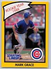 1990  MARK GRACE - Kenner Starting Lineup Card - Chicago Cubs - (Yellow)