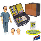 New SMDM Six Million Dollar Man Dr Wells w Tin Tote SDCC 2012 Limited Edition