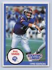 1990  PHIL SIMMS - Starting Lineup Card - NEW YORK GIANTS - (BLUE)