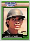 1989  BENITO SANTIAGO - Kenner Starting Lineup Card - SAN DIEGO PADRES