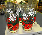 VTG 5 SWANKY SWIG CHRISTMAS GLASSES FEDERAL GLASS 8 oz TUMBLERS RED GREEN WHITE