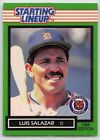 1989  LUIS SALAZAR - Kenner Starting Lineup Card - DETROIT TIGERS