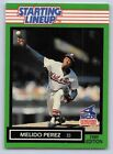 1989  MELIDO PEREZ - Kenner Starting Lineup Card - Chicago White Sox