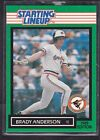 1989  BRADY ANDERSON - Kenner Starting Lineup Card - Baltimore Orioles - Vintage