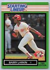 1989  BARRY LARKIN - Kenner Starting Lineup Card - SLU - CINCINNATI REDS