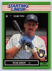 1989  ROB DEER - Kenner Starting Lineup Card - Milwaukee Brewers - Vintage