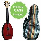 FLEA Ukulele RED concert size + Eddy Finn Hippie Mellow Weave Bag