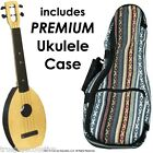 FLEA Ukulele NATURAL concert size + Eddy Finn Hippie Mellow Weave Bag