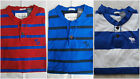 NWT Abercrombie  Fitch Henley Tee T Shirt Stripe Muscle Fit Mens Size MLXL