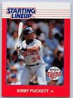 1988  KIRBY PUCKETT - Kenner Starting Lineup Card - MINNESOTA TWINS