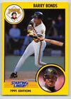 1991  BARRY BONDS - Kenner Starting Lineup Card - PITTSBURGH PIRATES
