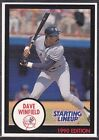 1990  DAVE WINFIELD - Kenner Starting Lineup Card - NEW YORK YANKEES - Blue