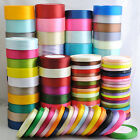 25Yard 1roll Mix Color Size Satin Ribbon From1 4 to 2 Craft Wedding D001 D182