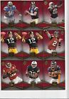 63ct 2011 Topps Supreme Football Base Red Parallel Card Lot 99