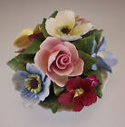 CROWN STAFFORDSHIRE ENGLAND LARGE HAND MADE POSY, POPPIES, ROSES