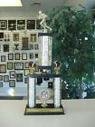 FANTASY FOOTBALL AWESOME SILVER TWO POST TROPHY OUR CUSTOM DESIGN FREE LETTER