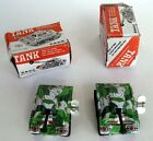 Lot of 2 Tin Tank Retro Vintage Toy Wind Up Spring Clockwork