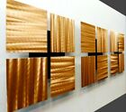 Modern Metal Wall Art Golden Copper Accent Sculptures Decor Original Jon Allen