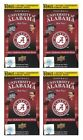 2012 Upper Deck University of Alabama Crimson Tide Football Blaster 4-Box Lot