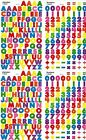 4 sheets Colorful Small ABC 123 Alphabet Numbers Scrapbook 400 Stickers