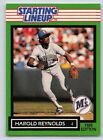1989  HAROLD REYNOLDS - Kenner Starting Lineup Card - SLU - SEATTLE MARINERS