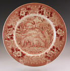 ANTIQUE OLD ENGLISH STAFFORDSHIRE LURAY CAVERNS RED TRANSFERWARE PLATE