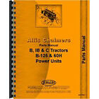 Parts Manual For Allis Chalmers Tractor IB Tractor (1939-1958)