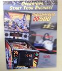 Original Bally Indianapolis 500 Pinball Game Advertising Flyer
