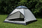 Tahoe Gear Willow 2 Person 3 Season Family Dome Camping Tent Black Grey