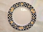 Art Deco Late Era Nippon Hand-painted Checks and Flowers Plate from Japan - VG
