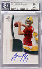 2005 Aaron Rodgers Upper Deck SP Authentic 2 Clr RC Patch Auto 99 BGS 9 10