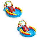 2 Pack Intex Inflatable Kids Pool Water Play Center with Slide  2 x 57453EP