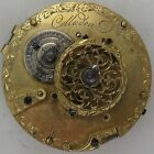 Colladon Verge Fusse Pocket Watch movement 44 mm. in diameter some parts missing