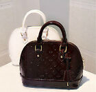 New Womens Shiny Patent Leather Zipper Handbag Shoulder Crossbody Bag Totes
