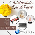 10 sheets Premium CLEAR LASER waterslide decal transfer paper 85x11