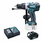 MAKITA 18V LXT DHP458 DHP458Z COMBI DRILL, BL1830 BATTERY AND DC18RC CHARGER