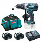MAKITA 18V DHP458 COMBI DRILL 2 BL1830 BATTERIES DC18RC CHARGER