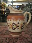 Vintage HB Quimper Earth Tone Pottery Pitcher Jug Quality Old French Art Piece