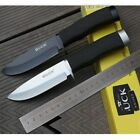 Buck Straight Blade Survival Camping Hunting  Rescue Tool Fixed Knife Black Gift