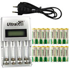 16 x AA 2A 3000mAh Ni-MH 1.2V Volt Rechargeable Battery EU LCD Charger Green BTY