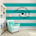 New What I Love Best Inspirational Vinyl Wall Art quote Home Decal Decor