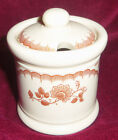 Shenango Restaurant ware Inca Ware brown flowers Condiment jar w/ cover