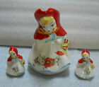 Vintage Collectible Adorable Hull Red Riding Hood Pitcher & Salt Pepper Shakers
